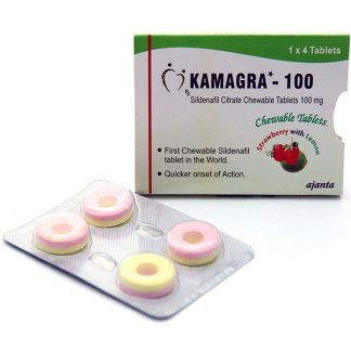 Kamagra Chewable Tablets 100 mg. Generic for Viagra, Revatio