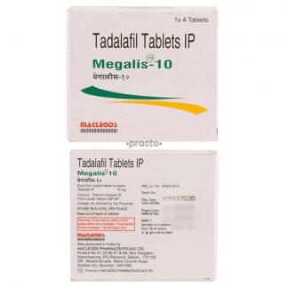 Megalis 10 mg. Generic for Cialis, Adcirca, Tadacip