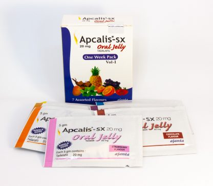 Apcalis SX Oral Jelly 20mg. Generic for Cialis, Adcirca, Tadacip