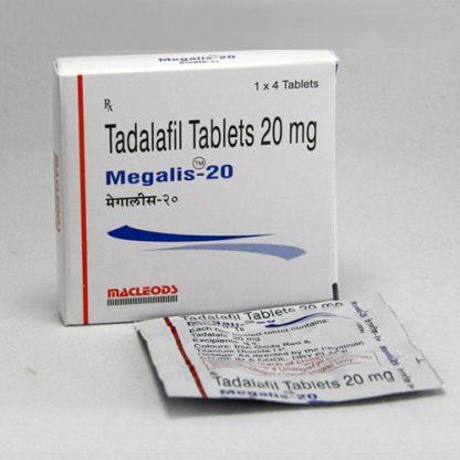 Megalis 20 mg. Generic for Cialis, Adcirca, Tadacip