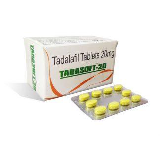 Tadasoft 20 mg. Generic for Cialis, Adcirca, Tadacip