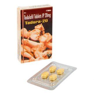 Tadora 20 mg. Generic for Cialis, Adcirca, Tadacip