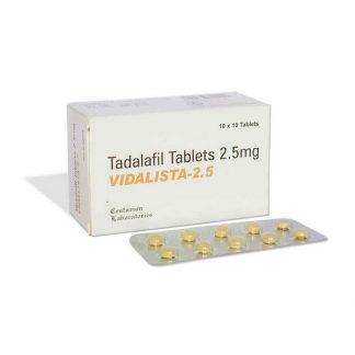 Vidalista 2.5 mg. Generic for Cialis, Adcirca, Tadacip