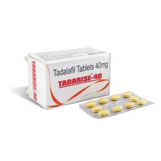 Tadarise 40 mg. Generic for Cialis, Adcirca, Tadacip