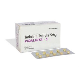 Vidalista 5 mg. Generic for Cialis, Adcirca, Tadacip