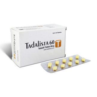 Tadalista 60 mg. Generic for Cialis, Adcirca, Tadacip