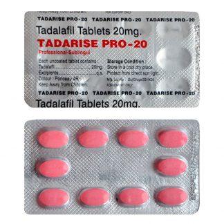 Tadarise Pro 20. Generic for Cialis, Adcirca, Tadacip