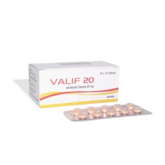 Valif 20 mg. Generic for Levitra, Staxyn, Vivanza