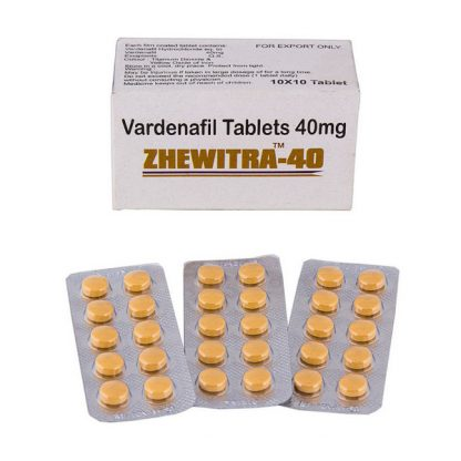 Zhewitra 40 mg. Generic for Levitra, Staxyn, Vivanza