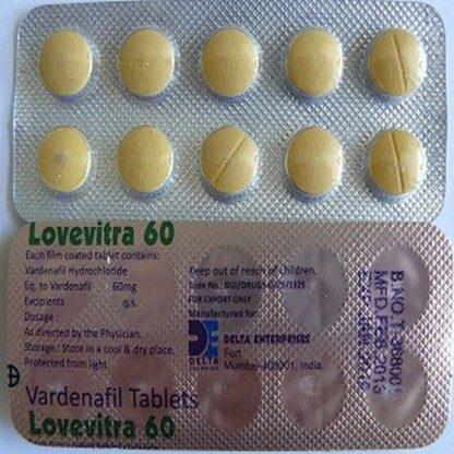 Lovevitra 60 mg. Generic for Levitra, Staxyn, Vivanza